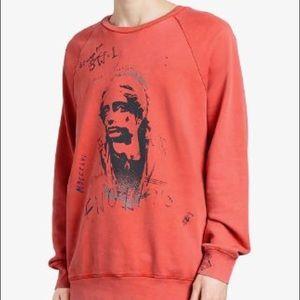 Burberry Portrait Print Cotton Sweatshirt